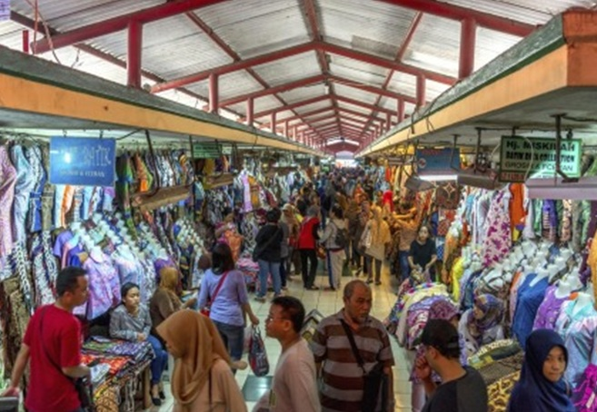 Buying batik in Indonesia